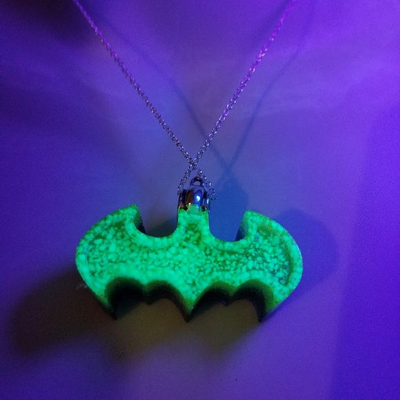 Mystic Branches Art Jewelry Batman Symbol Glowinthedark Uv